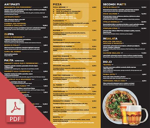 Letorri menu